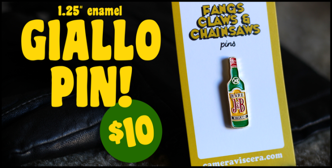 GIALLO 1.25″ enamel lapel pin! Just $10!