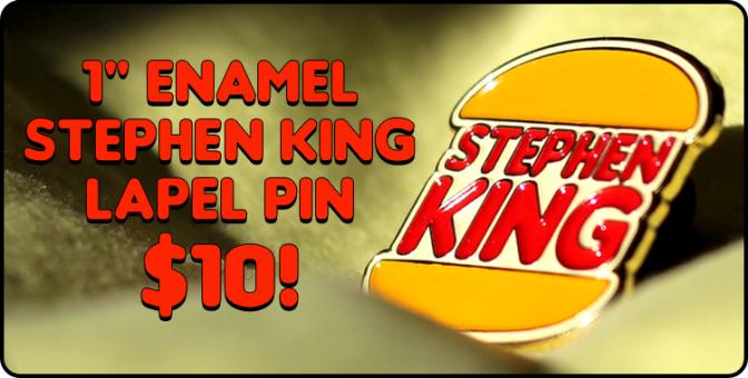 1″ STEPHEN KING enamel lapel pin!