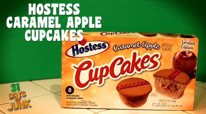 31 Days of Junk: Hostess Caramel Apple Cupcakes (#2)